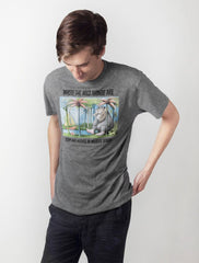 Out Of Print - Where The Wild Things Are Men's Shirt, Heather Grey - The Giant Peach