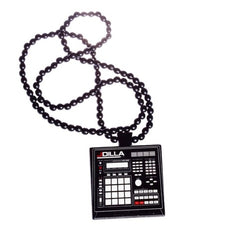 J Dilla - Beat Machine Wood Chain, Black