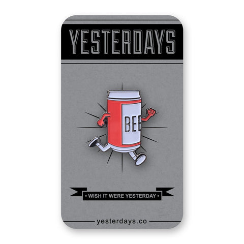 Yesterdays - Beer Run Pin