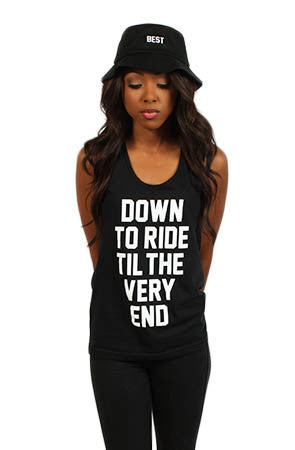Adapt x Breezy Excursion - Down To Ride Women's Tank Top, Black