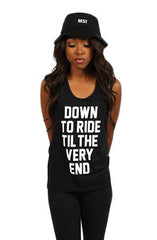 Adapt x Breezy Excursion - Down To Ride Women's Tank Top, Black - The Giant Peach - 1