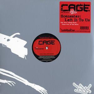 "Cage - Scenester b/w Left It To Us, 12"" Vinyl"