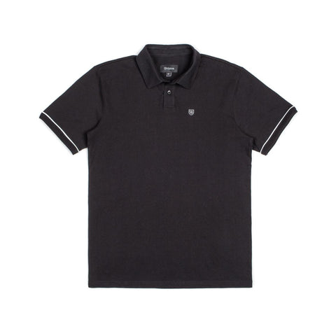 Brixton - Carlos Men's S/S Polo Knit, Black