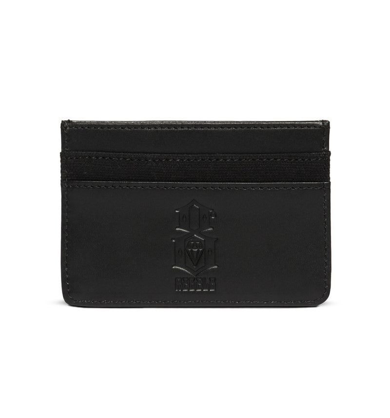 REBEL8 - Logo Leather Canvas Logo Card Holder, Black - The Giant Peach