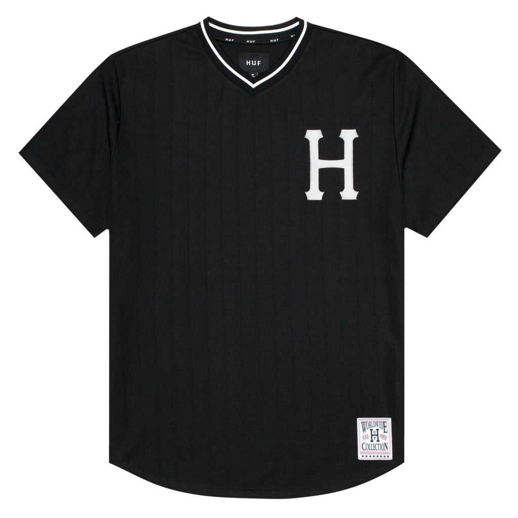 HUF - Chavez Men's Baseball Jersey, Black