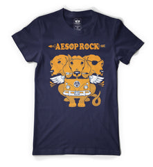 Aesop Rock - Cerberus Men's Shirt, Navy - The Giant Peach