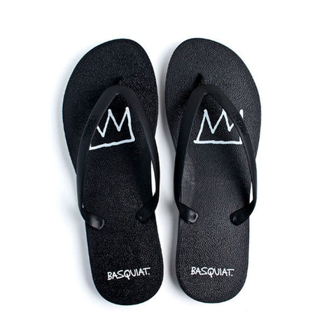 Tidal - Jean-Michel Basquiat Crown Men's Flip Flops, Black/Black