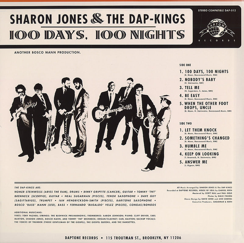 Sharon Jones & The Dap-Kings - 100 Days 100 Nights, LP Vinyl - The Giant Peach
