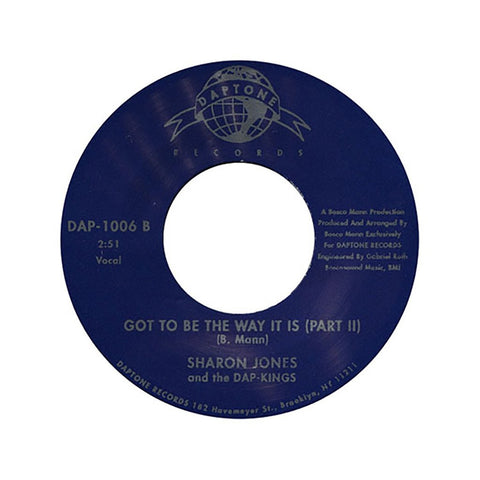 "Sharon Jones And The Dap Kings - Got To Be The Way It Is, 7"" Vinyl"