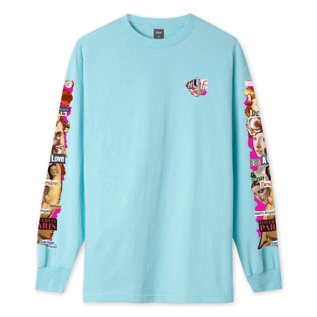 HUF - Desire Men's L/S Tee, Greek Blue
