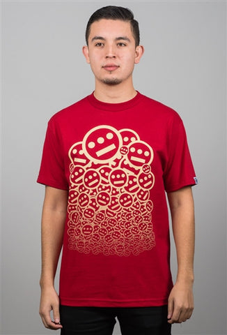 delHIERO - Stacked Men's Shirt, Red