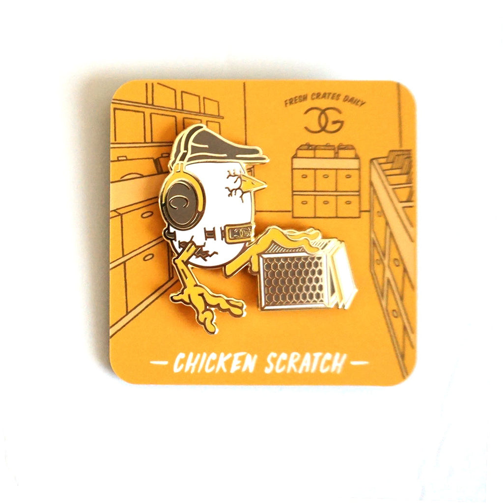 DJ Chicken George Chicken Scratch Pin