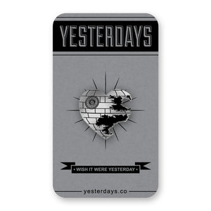 Yesterdays - Love Is A Battle Station Pin - The Giant Peach