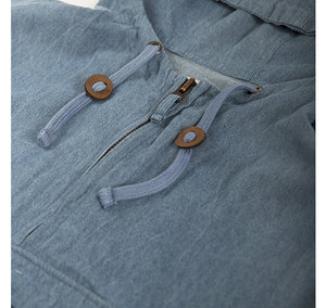 Akomplice VSOP- Denim Men's Anorak - The Giant Peach