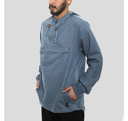 Akomplice VSOP- Denim Men's Anorak - The Giant Peach - 1