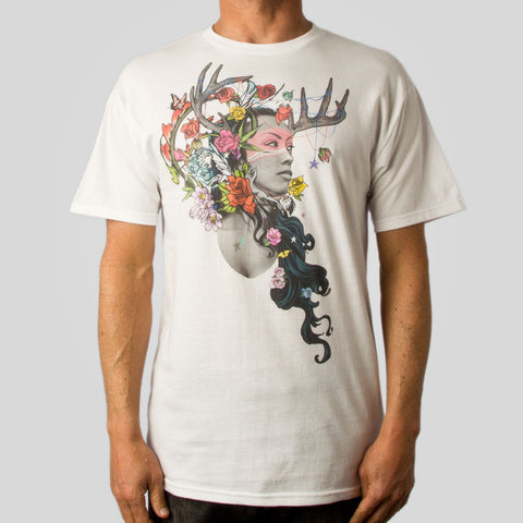 Twelve Grain by Sam Flores - Dier Huntress Men's Tee, White