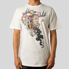 Twelve Grain by Sam Flores - Dier Huntress Men's Tee, White - The Giant Peach - 1