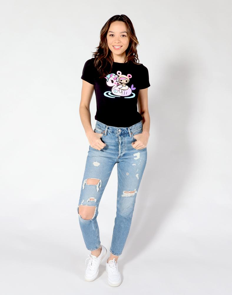 tokidoki - Donut Summer Float Women's Tee, Black