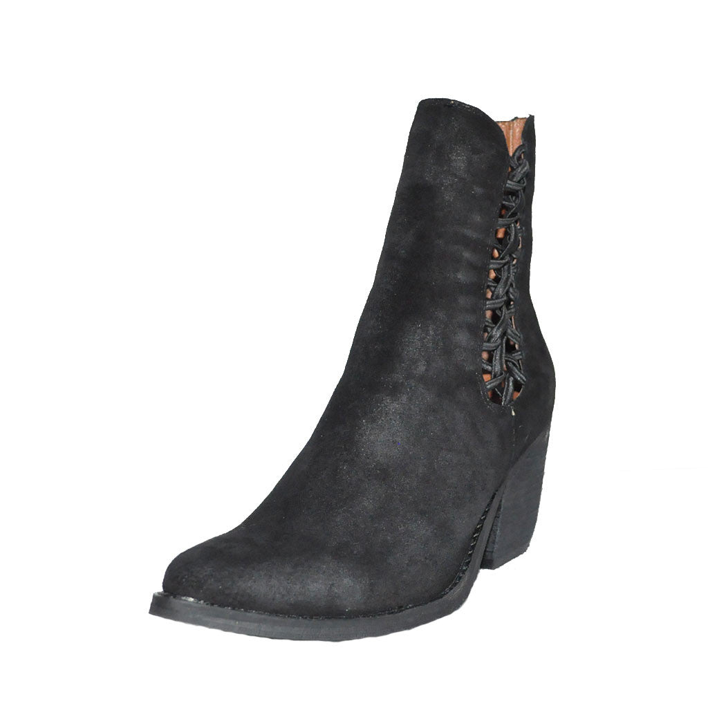 Jeffrey Campbell - Dubois Bootie, Black Distressed Suede - The Giant Peach - 2