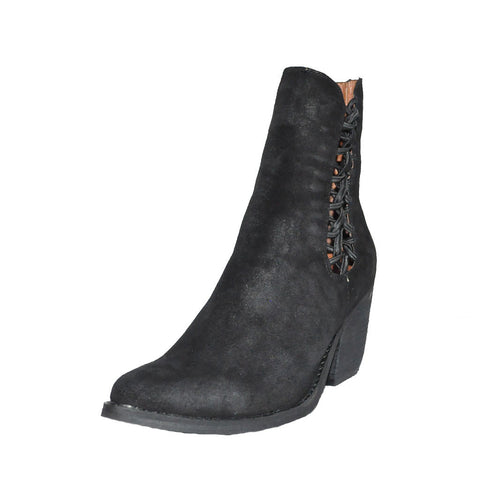 Jeffrey Campbell - Dubois Bootie, Black Distressed Suede