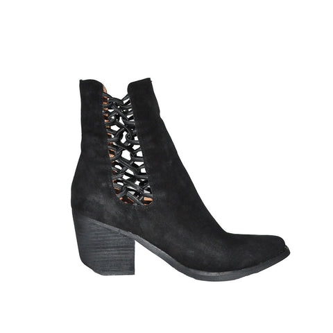 Jeffrey Campbell - Dubois Bootie, Black Distressed Suede - The Giant Peach - 1
