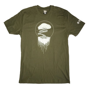 ENGRAFFT - Grafted Tendril Bonsai 3 Men's Tee, Military Green