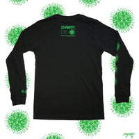 ENGRAFFT - Tendril Microbe Men's L/S Tee, Black