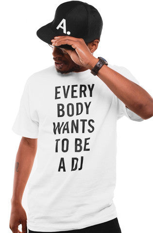 Adapt x Deltron - Everybody Wants to Be A DJ Men's Shirt, White - The Giant Peach