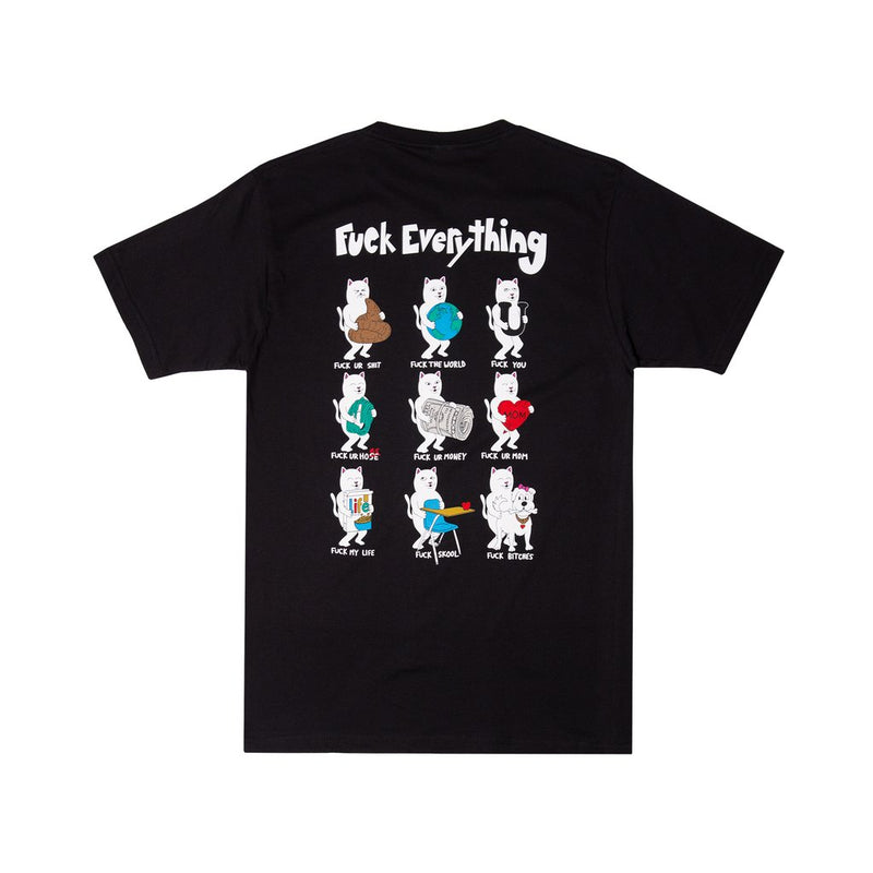 RIPNDIP - Fuck Everything Men's Tee, Black
