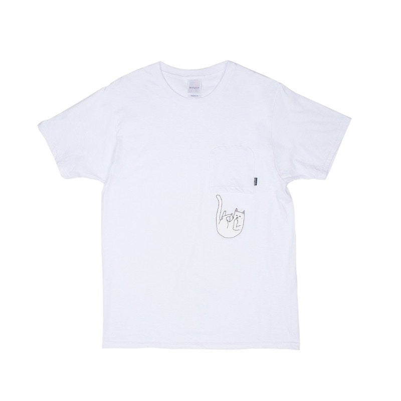 RIPNDIP - Falling For Nermal Men's Pocket Tee, White - The Giant Peach