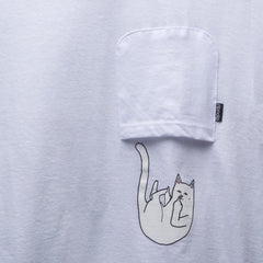 RIPNDIP - Falling For Nermal Men's Pocket Tee, White