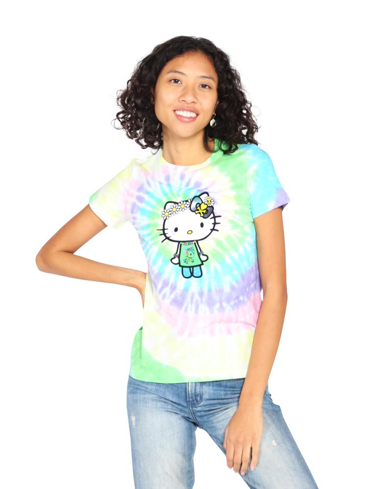 tokidoki  x Hello Kitty - Far Out Kitty Tie Dye Women's Tee, Multi