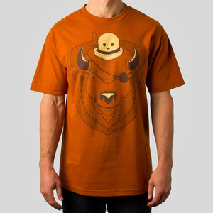 SuperFishal (Jeremy Fish) - Bison Pirate Men's Shirt, Orange - The Giant Peach