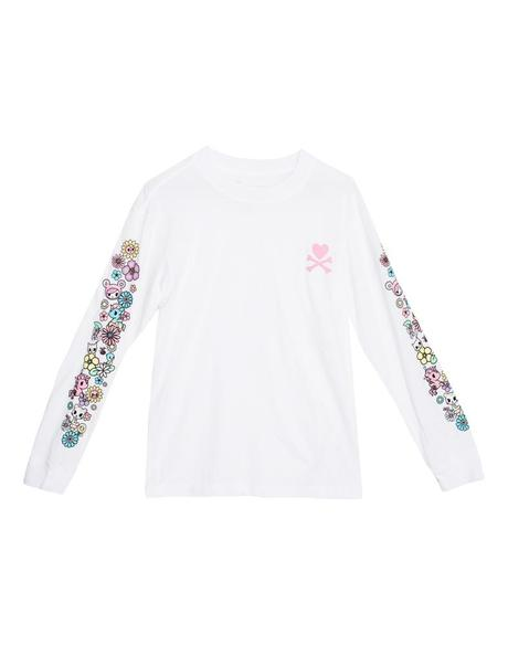 tokidoki - Garden Sleeves L/S Women's Tee, White