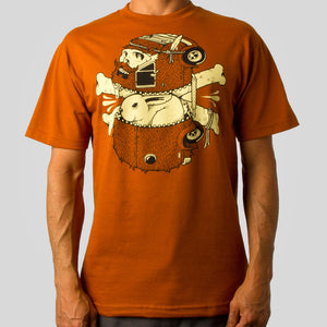 SuperFishal (Jeremy Fish) - Getaway Beard Men's Shirt, Rust - The Giant Peach