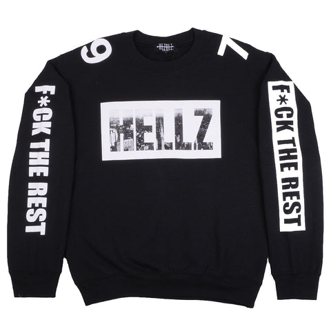 HELLZ - HBNY Women's Crewneck Sweater, Black