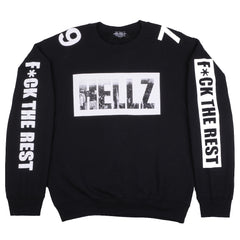 HELLZ - HBNY Women's Crewneck Sweater, Black - The Giant Peach - 4
