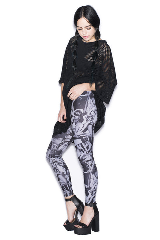 HELLZ - Babes Women's Leggings, Black - The Giant Peach