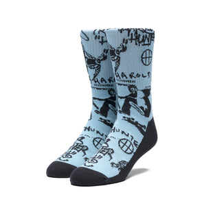 HUF x Harold Hunter Foundation 2019 Socks, Light Blue