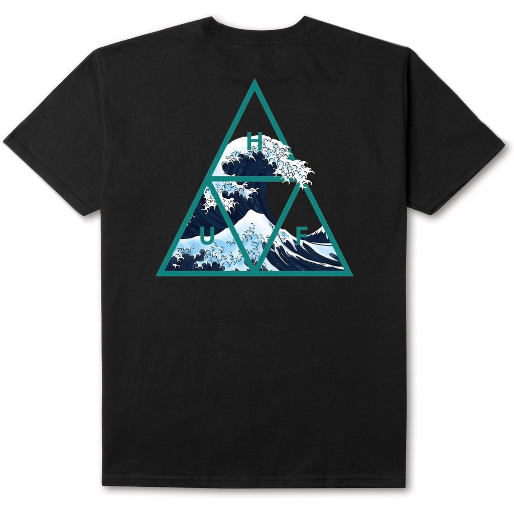 HUF - High Tide Triangle Men's Tee, Black