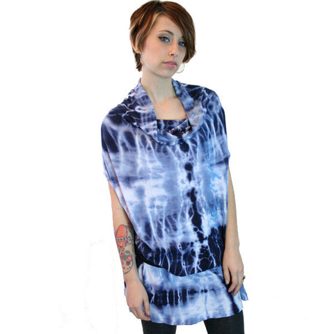 Harajuku Lovers - Tie-Dye Flow Junior's Dress, Hope Blue