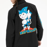 RIPNDIP - Nermhog Men's Coaches Jacket, Black