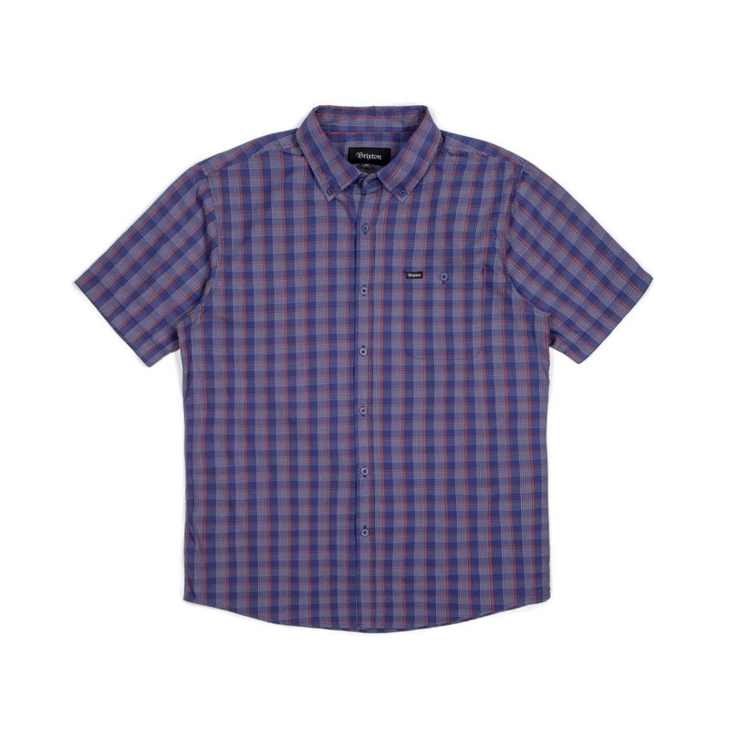Brixton - Howl Men's S/S Woven Shirt, Navy/Red/White - The Giant Peach