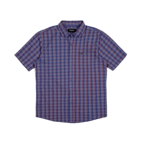 Brixton - Howl Men's S/S Woven Shirt, Navy/Red/White