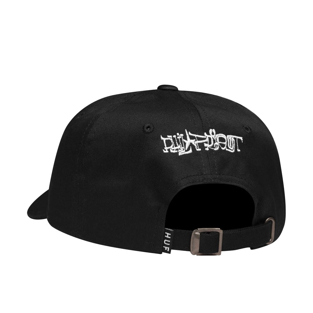 HUF x Phil Frost Curved Visor 6 Panel Hat, Black