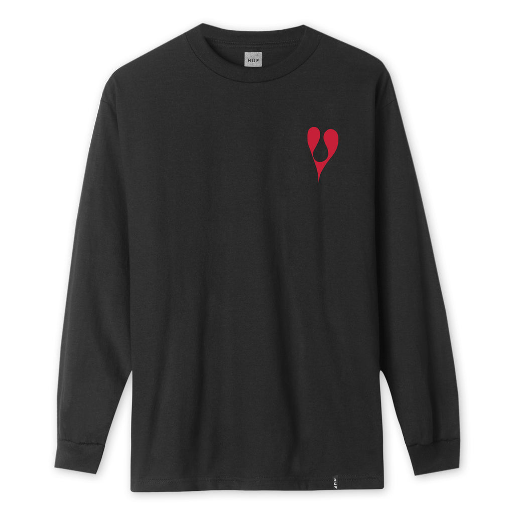 HUF x Phil Frost L/S Men's Tee, Black