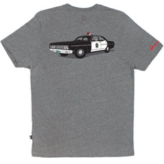 HUF x Chocolate SF Cop Car Men's Tee, Grey Heather