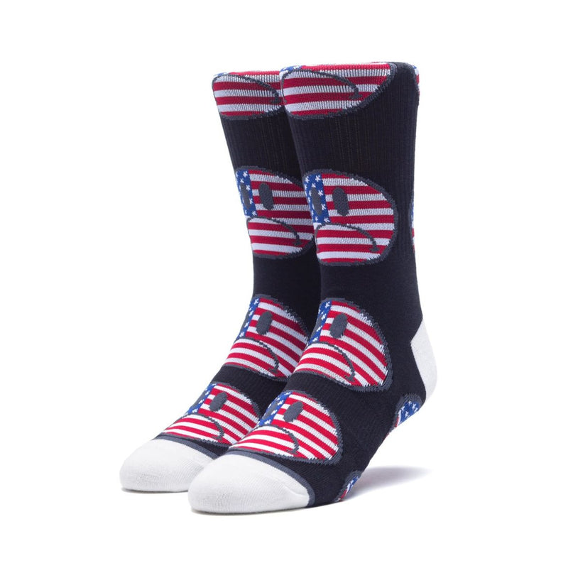 HUF Bummer USA Sock, Black