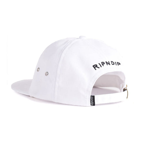 RIPNDIP - Go Fuck Thyself 6 Panel Hat, White