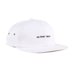 RIPNDIP - Go Fuck Thyself 6 Panel Hat, White - The Giant Peach